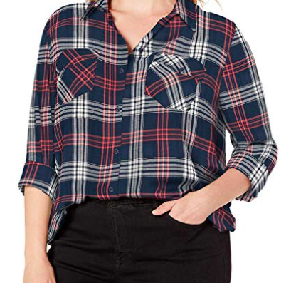 Plaid Print Button Up.png