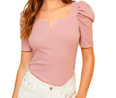 Pink Puff Sleeve Top.png